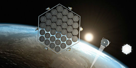 Plataforma solar espacial