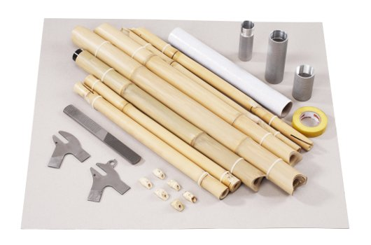 Materiales para bicicleta de bambú