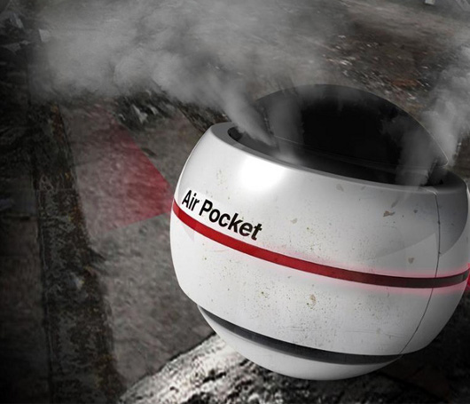 Air Pocket, para purificar aire en un incendio