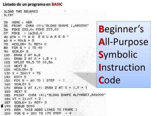 Ejemplo de un programa en BASIC