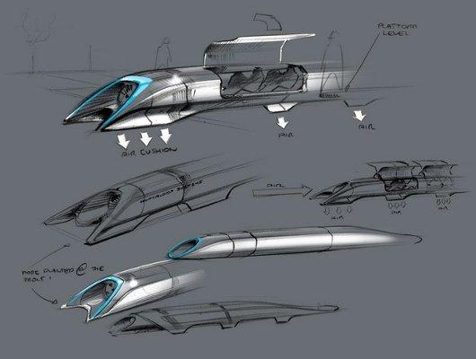 Concepto de cápsula proyecto Hyperloop
